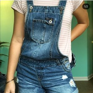 Denim - Dark wash overalls